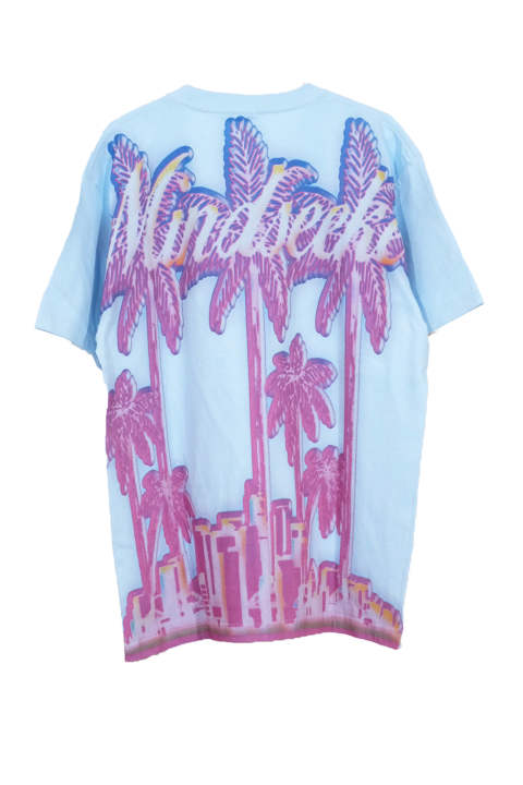 Palm Tree T-shirts light blue