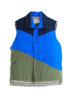 50/50 Blue/Army Puffy Vest