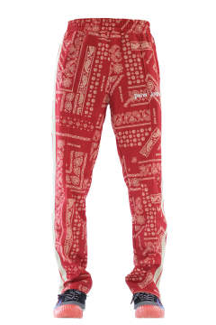 Bandana Collage Track Pants Red