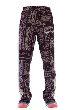 Bandana Collage Track Pants Plum