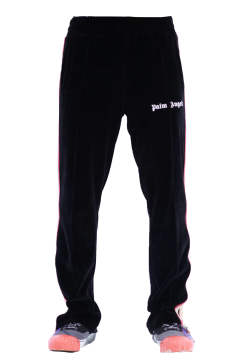 Tdye Tape Chenille Trk Pants Black